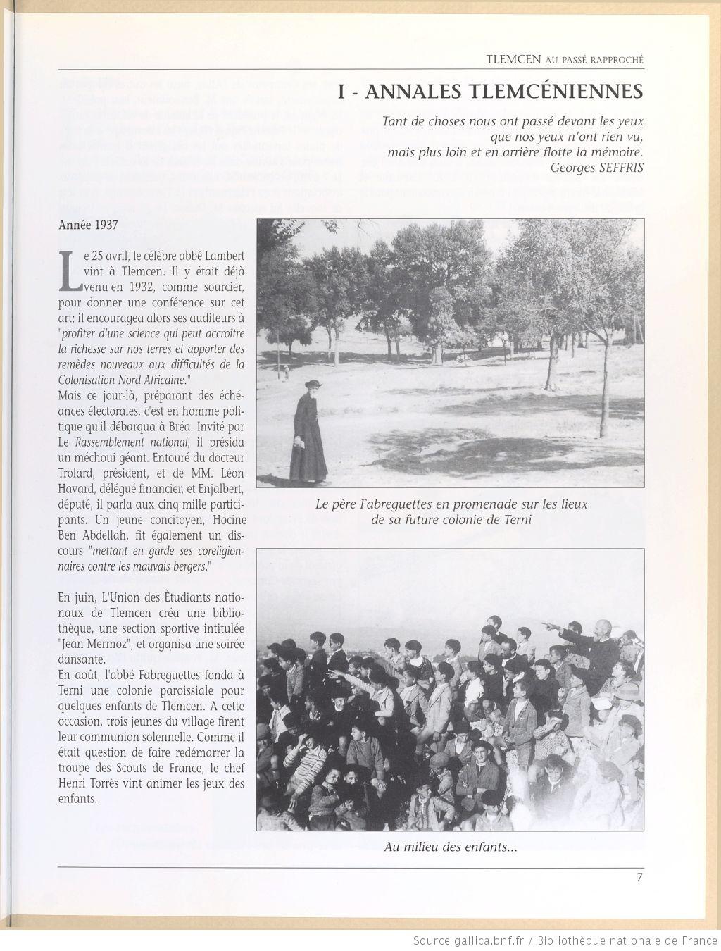 Tlemcen au passe rapproche 1937