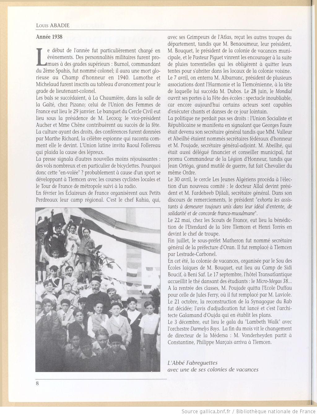 Tlemcen au passe rapproche 1939