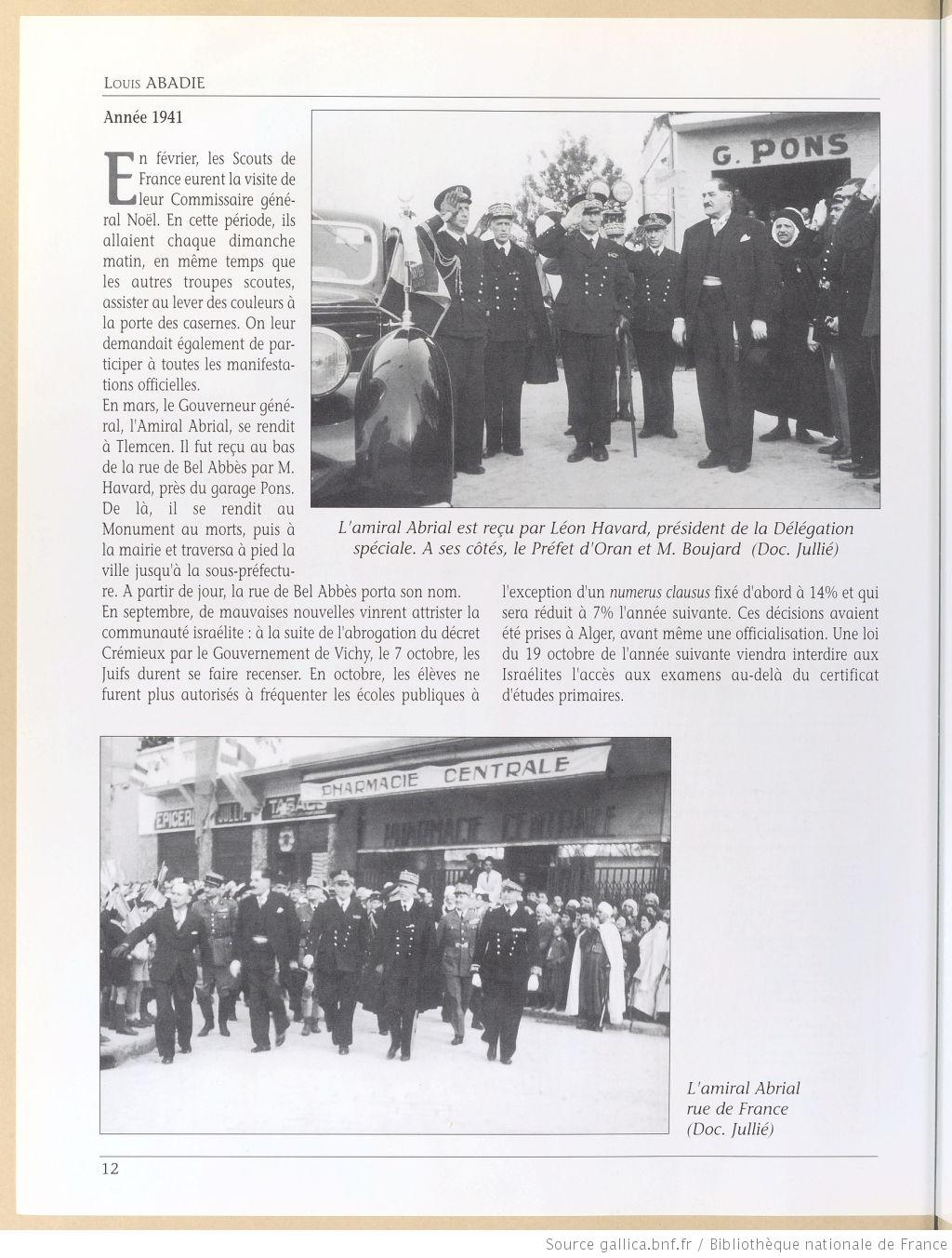 Tlemcen au passe rapproche 1941