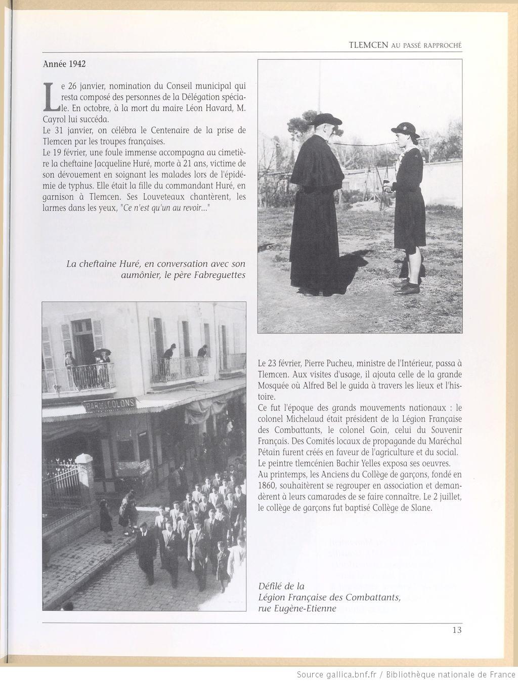 Tlemcen au passe rapproche 1942