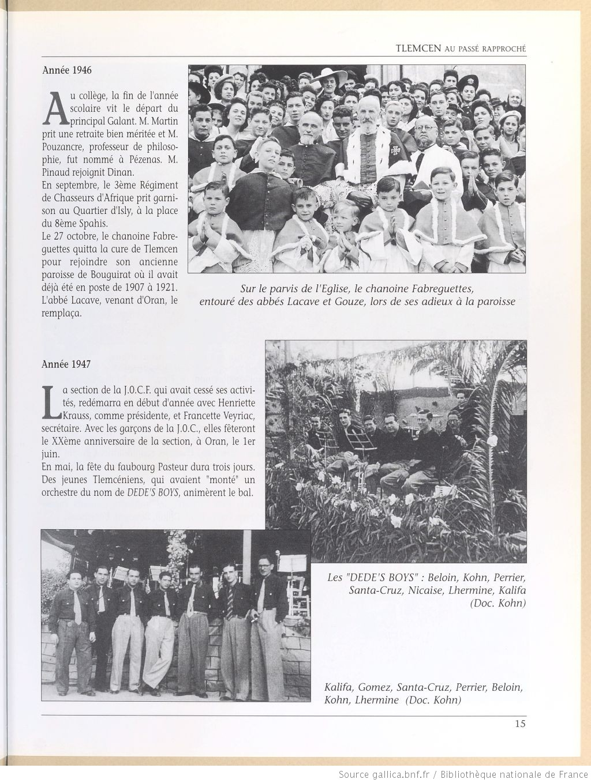 Tlemcen au passe rapproche 1946 1947