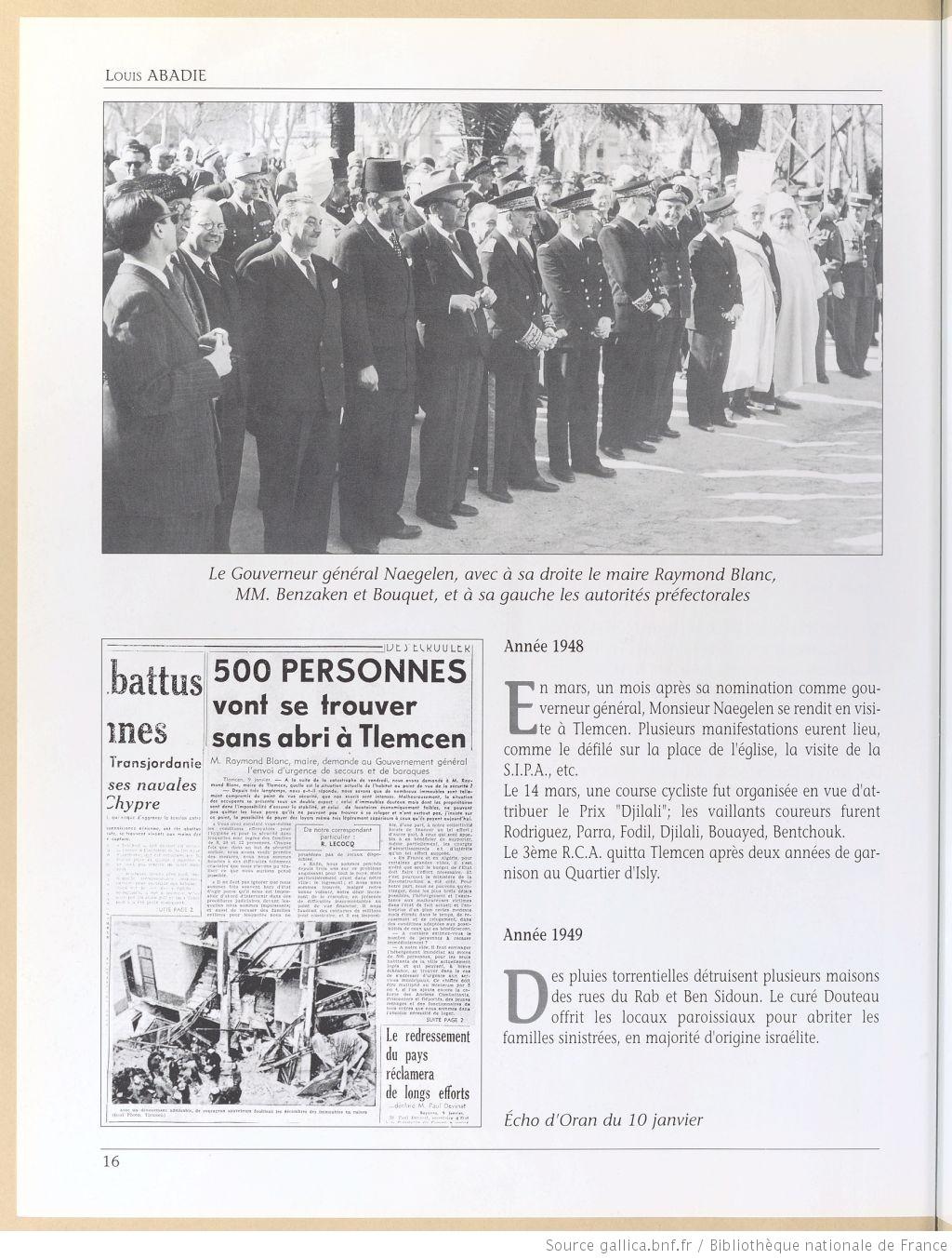 Tlemcen au passe rapproche 1948
