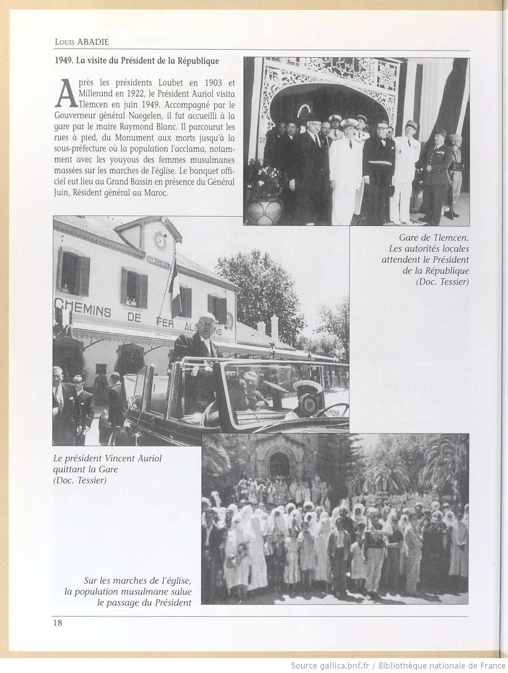 Tlemcen au passe rapproche 1949