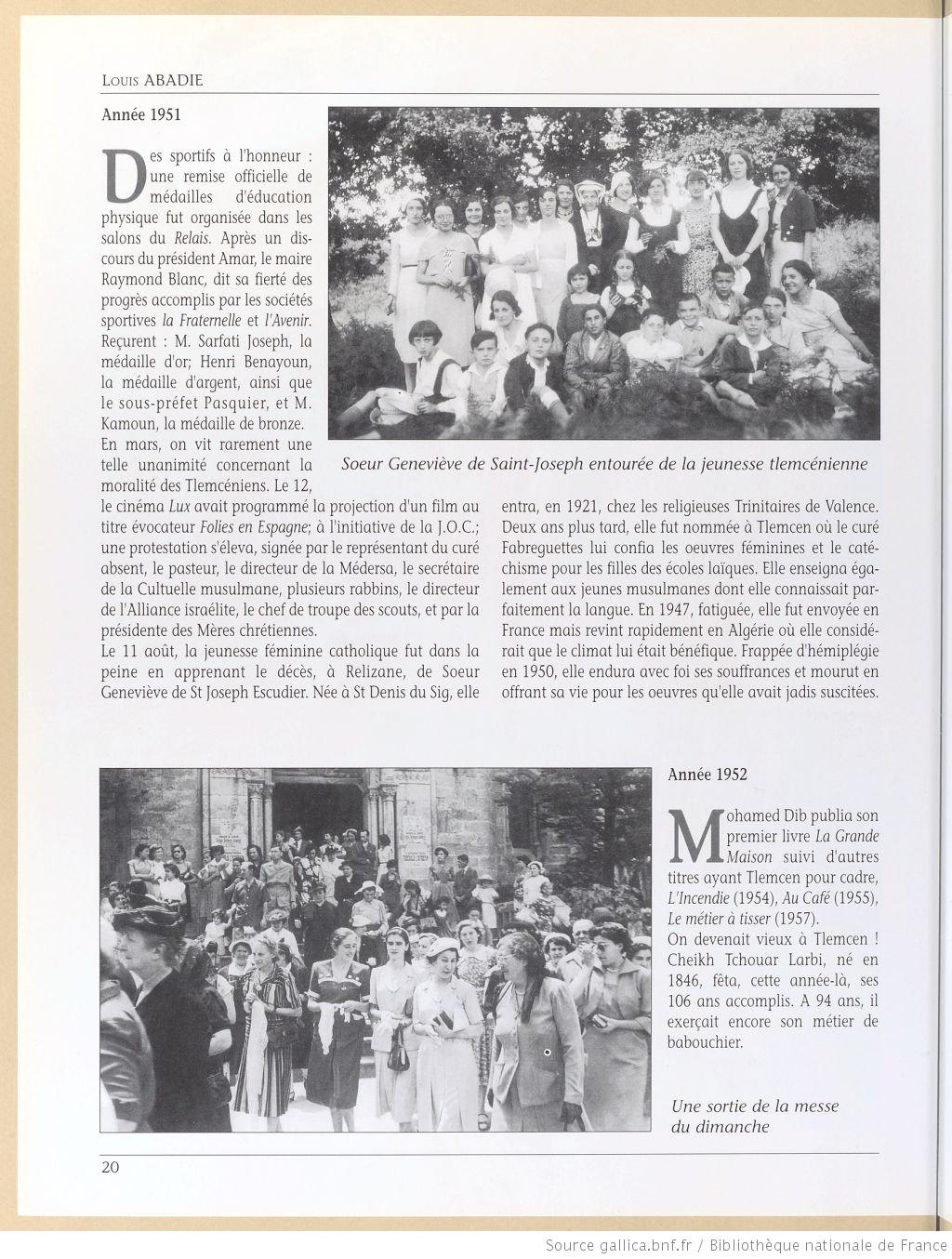 Tlemcen au passe rapproche 1951