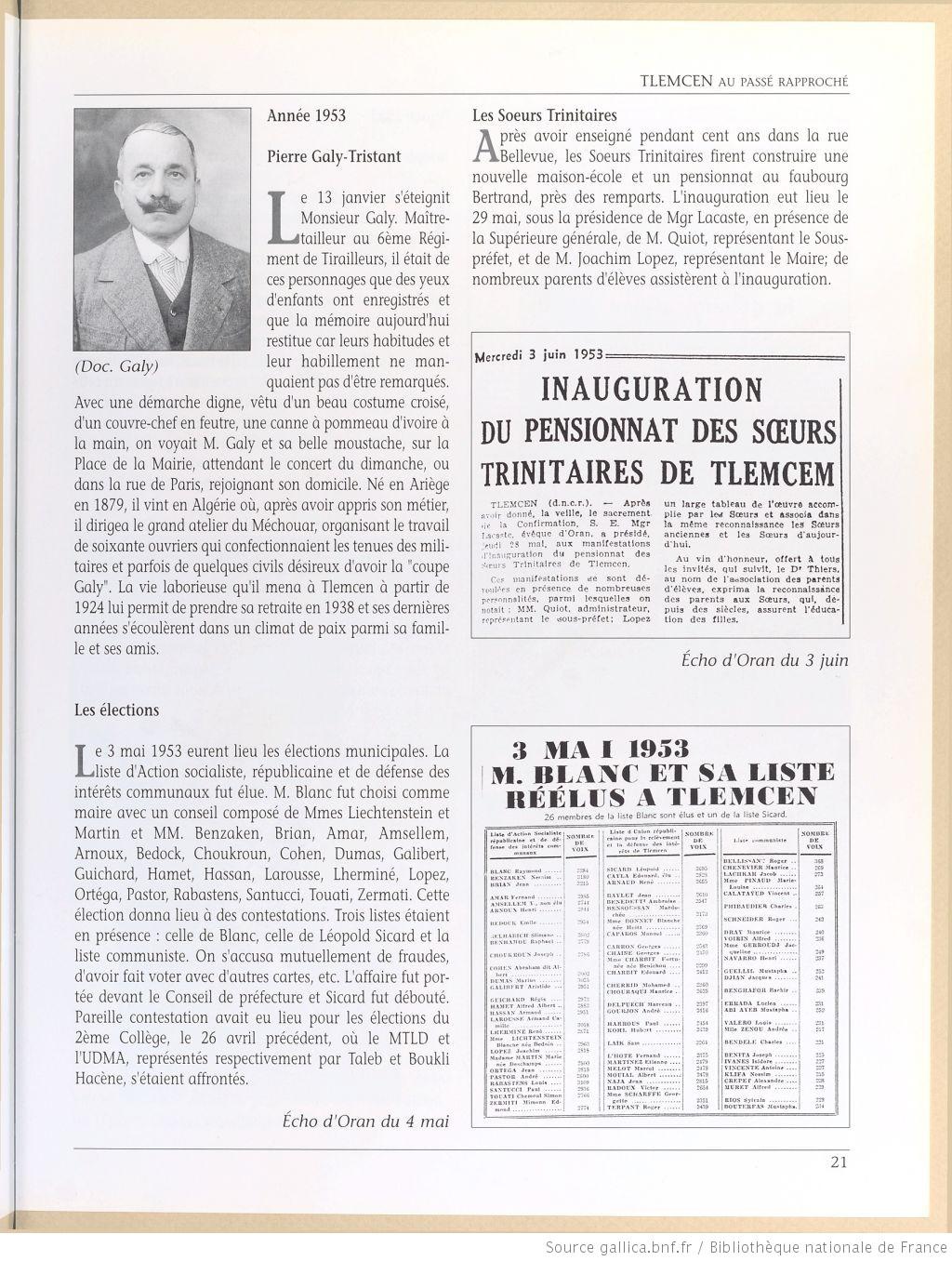 Tlemcen au passe rapproche 1953
